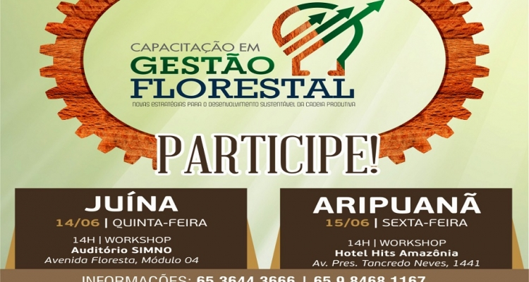 Cipem realiza eventos sobre gestão florestal em Juína e Aripuanã