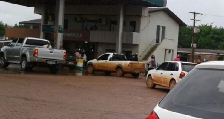 Posto de combustível é alvo de assalto à mão armada em Aripuanã