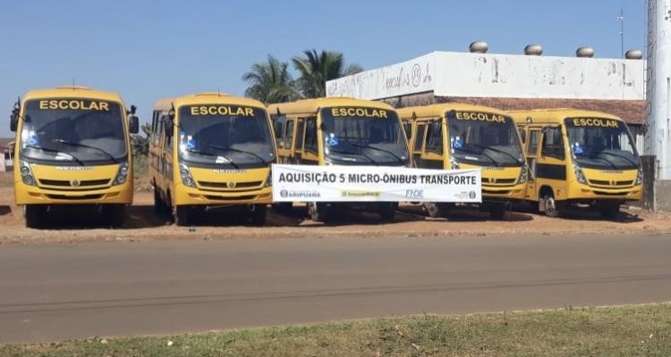 Prefeitura de Aripuanã adquire novos veículos para o transporte escolar