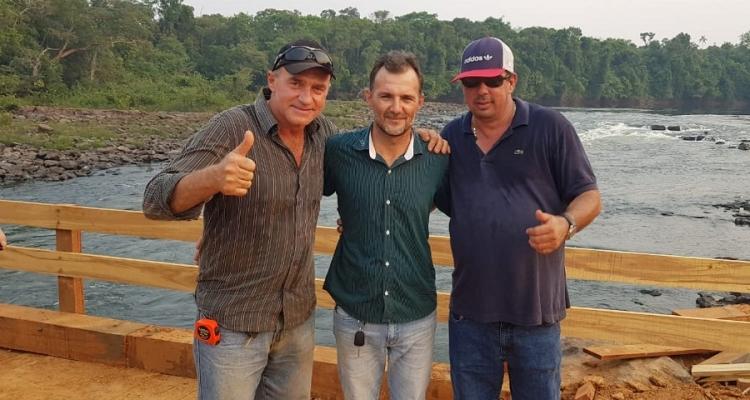 Empresários se unem e constroem ponte sobre Rio Aripuanã