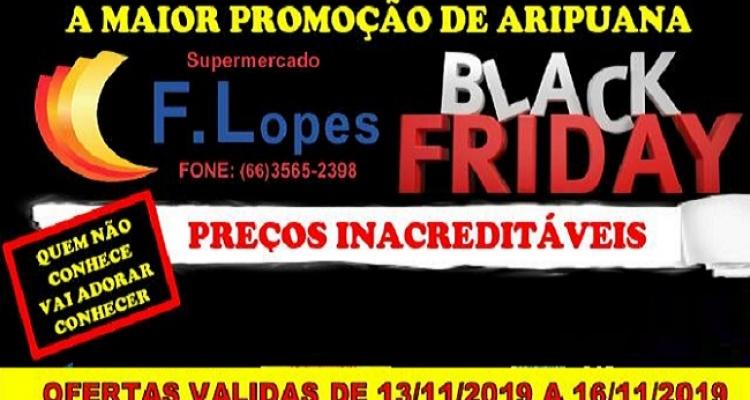 Veja como aproveitar a Black Friday no Supermercado Lopes em Aripuanã