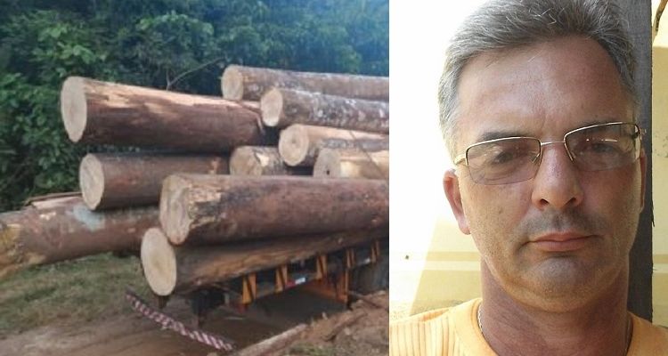 Caminhoneiro morre após ser atingido por tora de madeira em Aripuanã