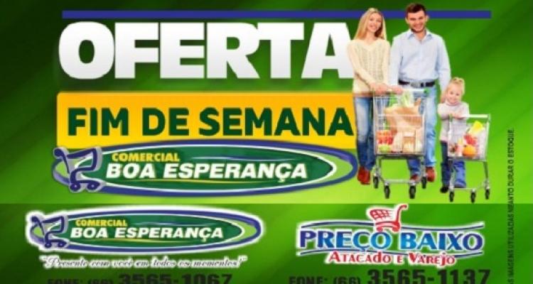 Comercial Boa Esperança em Aripuanã tem oferta especial neste fim de semana