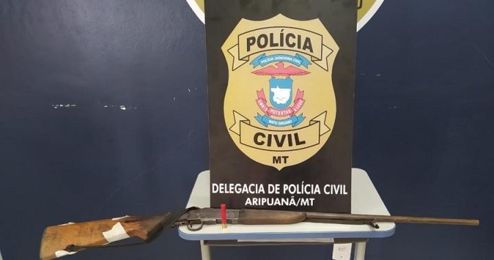 Polícia Civil apreende arma de fogo na zona rural do município de Aripuanã
