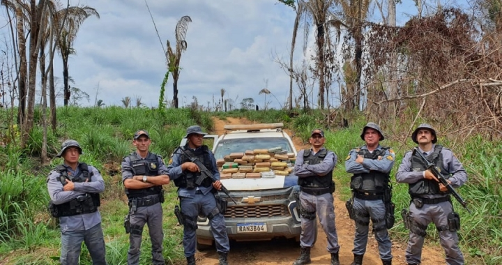 Polícia Militar apreende 83 kg de drogas em distrito de Aripuanã